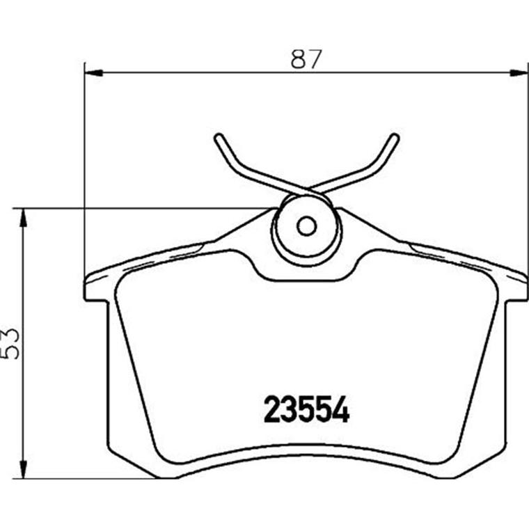 bremsbel ge f r skoda bremsen set bremskl tze fabia. Black Bedroom Furniture Sets. Home Design Ideas