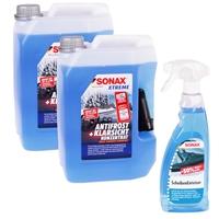 SONAX Xtreme AntiFrost&KlarSicht Konzentrat 2x5L, Gratis ScheibenEnteiser 500 ml