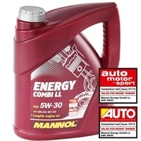 SCT Ölfilter + Mannol 5W-30 Combi LL, 5 Liter + Ölablassschraube + Ölzettel