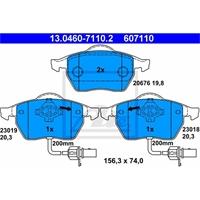 ATE Bremsbelagsatz VORNE AUDI A4 B5 B6 B7 A6 C5 C6 VW PASSAT 3B2 3B3 13.0460-7110.2