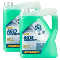 MANNOL Hightec Antifreeze AG13 -40°C, Grün, 2x5 Liter