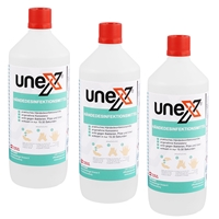 UNEX Hände-Desinfektionsmittel, 3x1 Liter