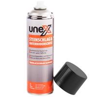 UNEX Steinschlag Unterbodenschutz überlackierbar schwarz, 3x500 mL
