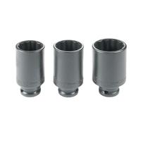 3-tlg. Vielzahn Nüsse Schlagschraubernuss für Antriebswelle 30-32-36mm