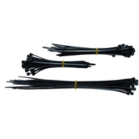 75 Stück FESTE Schwarze Kabelbinder in 3 Grössen Länge 100mm 120mm 200mm Kabel