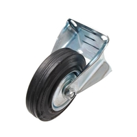 Bockrolle 100 mm, mit Anschraubsockel