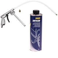 Unterbodenschutz schwarz Anticor mit Pistole, Korrosionsschutz, 1 Liter