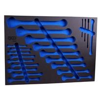 Werkstattwageneinlage für Maulringschlüssel und E-Profil-Schlüssel