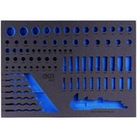 Werkstattwageneinlage für Steckschlüsseleinsätze / Maulringschlüssel
