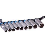 Steckschlüssel-Einsatz-Set, tief, 12-kant, 12.5 (1/2), 9-tlg.