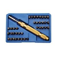 Schlagstempel Werkzeug Satz 4 mm 37-tlg. Schlagbuchstaben A-Z Schlagzahlen 0-9