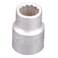 """Steckschlüsseleinsatz, 20 mm 3/4"""", 12-kant, 19 mm"""