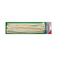 30-tlg Kabelbinder Sortiment Weiß 8 x 400 mm Kabel-Binder BGS 30 Stück aus Nylon