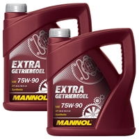 MANNOL Extra Getriebeöl 75W-90 API GL 4/GL 5 LS, 2x4 Liter