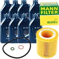 Mann Filter Ölfilter + BMW Original Motoröl 8 Liter