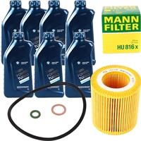 Mann Filter Ölfilter + BMW Original Motoröl 7L