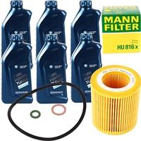 Mann Filter Ölfilter + BMW Original Motoröl 6L
