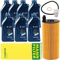 Mann Filter Ölfilter mit Schraube + BMW Motoröl Twin Power Turbo 5W30 7L