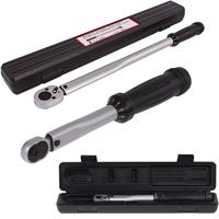 2x TECPO Automatischer Drehmoment Schlüssel, 1/4 Zoll 10 - 50 Nm, 1/2 Zoll 20-200 Nm