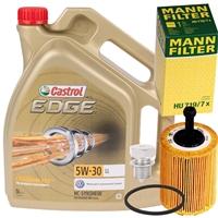 5 Liter Castrol 5W-30 EDGE TITANIUM FST + MANN Ölfilter