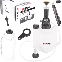 TECPO Bremsenentlüftungsgerät  4 Liter + Bremsflüssigkeitstester