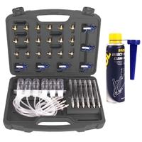 TECPO Common Rail Tester Injektor Prüfer mit 24 Adaptern