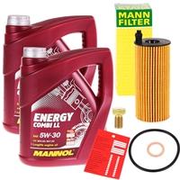 MANNOL Energy Combi LL 5W-30 BMW LL-04 2x4 Liter Motoröl + Mann Ölfilter