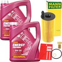 MANNOL Energy Premium 5W-30 BMW LL-04 2x5 Liter Motoröl + Mann Ölfilter