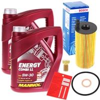 MANNOL Energy Combi LL 5W-30 BMW LL-04 2x4 Liter Motoröl + Bosch Ölfilter