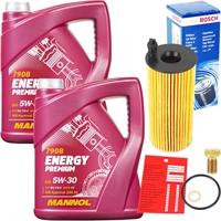 MANNOL Energy Premium 5W-30 BMW LL-04 2x5 Liter Motoröl + Bosch Ölfilter