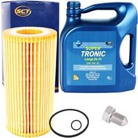 SCT Germany Ölfilter + ARAL Super Tronic Longlife III Motoröl 5W-30, 5 Liter