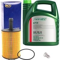 SCT Ölfilter + FANFARO 5W-30 VW 504.00 507.00, 5 Liter