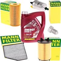 Mann-Filter Inspektionspaket + Mannol Combi LL 5W-30 5 Liter