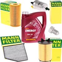 Mann-Filter Inspektionspaket + Mannol Energy 5W-30 5 Liter