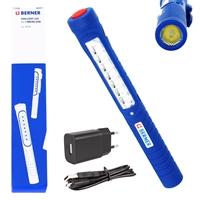 Berner Handlampe LED Pen Light 7+1 Micro USB + Ladegerät
