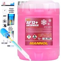 Mannol Longlife Kühlerfrostschutz AF12+ 10 Liter + BGS Frostschutzprüfer