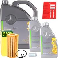 Mann-Filter Ölfilter + 5W-30 Mercedes Benz Motoröl MB 229.51, 7 Liter