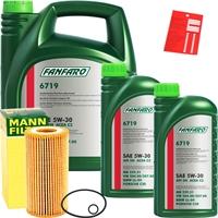 Mann-Filter Ölfilter + FANFARO 5W-30 MB 229.51, 7 Liter
