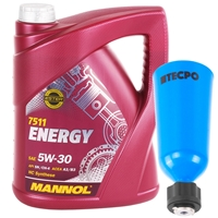 Mannol 5W-30 ENERGY 5 Liter + Öl Einfülltrichter 2l