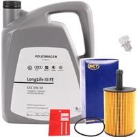 SCT GERMANY Ölfilter + VAG Original 0W-30 Motoröl LongLife III 3 FE, 5 Liter