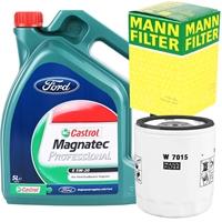 Mann-Filter Ölfilter + Castrol Magnatec Professional E 5W-20, 5L