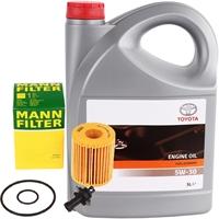 MANN-FILTER Ölfilter + Motoröl TOYOTA Original 5W-30, 5 Liter