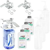 3x Wandspender + 3x Kartusche + 3x Desinfektionsmittel 500 mL
