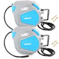 2x TECPO Druckluftschlauch Aufroller 20 Meter + 1.5 Meter