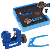 TECPO Rohr Biegezange für Rohr Durchmesser 3, 4.75, 6 mm + Rohrabschneider 3-16 mm + BGS Bördelgerät