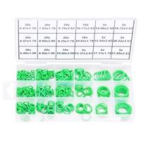 HNBR O-Ring Dichtring Set 265-tlg Speziell für KFZ Klimaanlagen Grüne Dichtringe