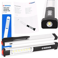 Berner LED-Lampe Pen-Light Premium USB