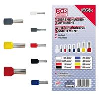 685x Aderendhülsen-Sortiment + Crimpzange für isolierte Verbinder