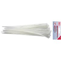 50-tlg. Kabelbinder Sortiment Weiß 4,8 x 250 mm Kabel-Binder BGS