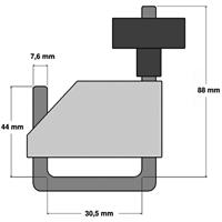 Schlauchklemme, 25 mm Durchmesser